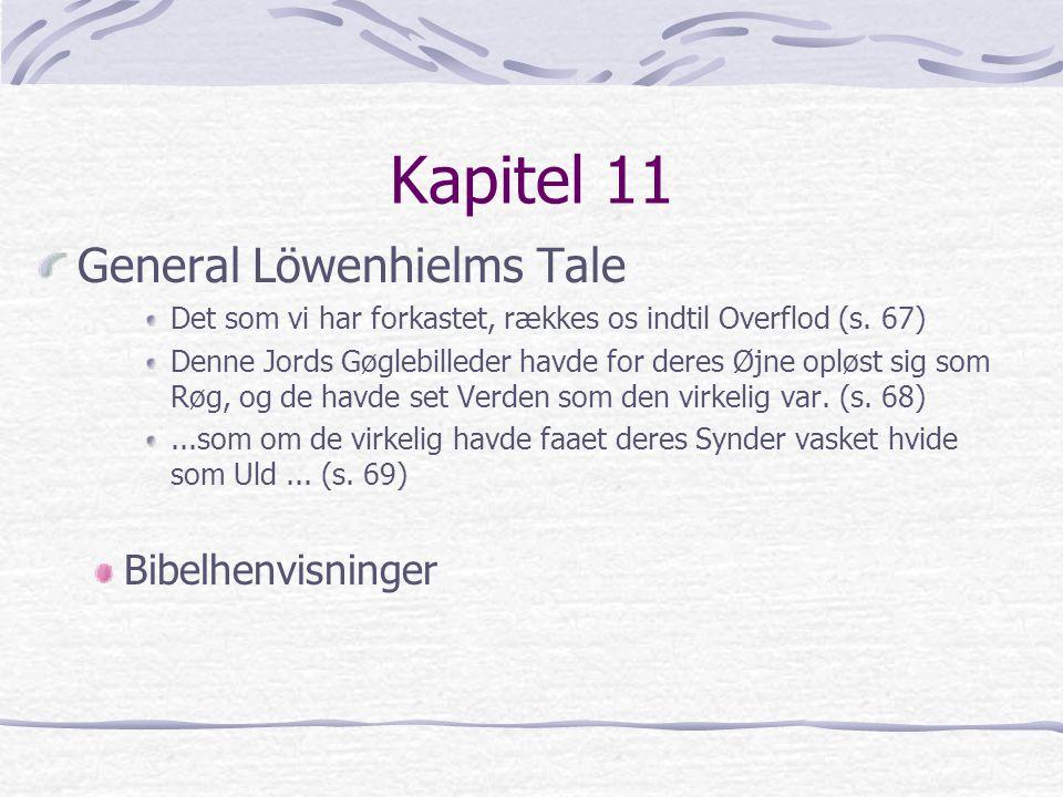 Kapitel 11 General Löwenhielms Tale Bibelhenvisninger