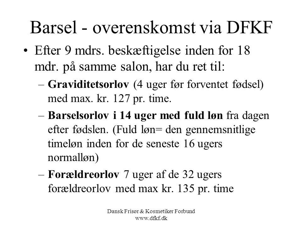 Barsel - overenskomst via DFKF