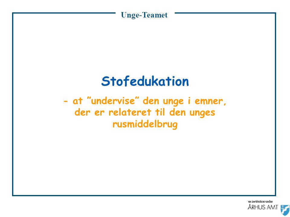 Unge-Teamet Stofedukation.