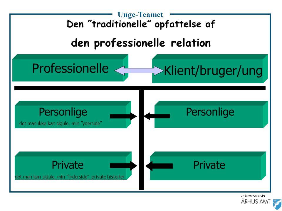 Den traditionelle opfattelse af den professionelle relation