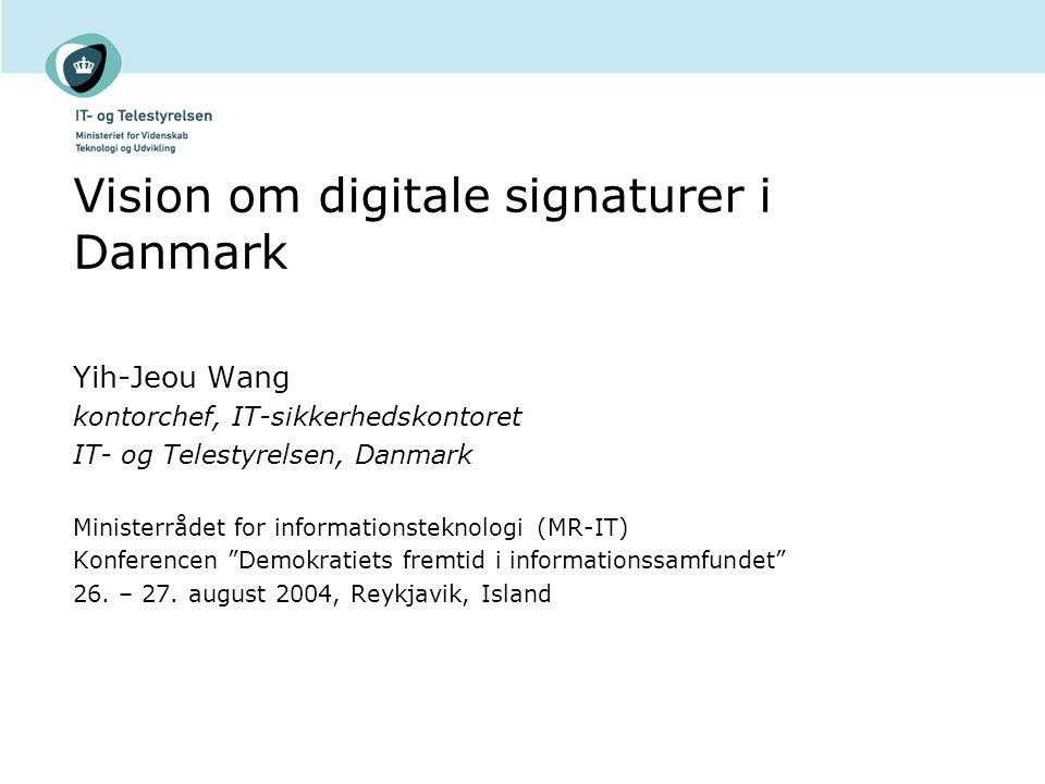 Vision om digitale signaturer i Danmark