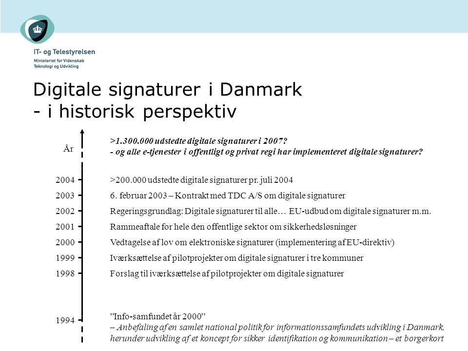 Digitale signaturer i Danmark - i historisk perspektiv