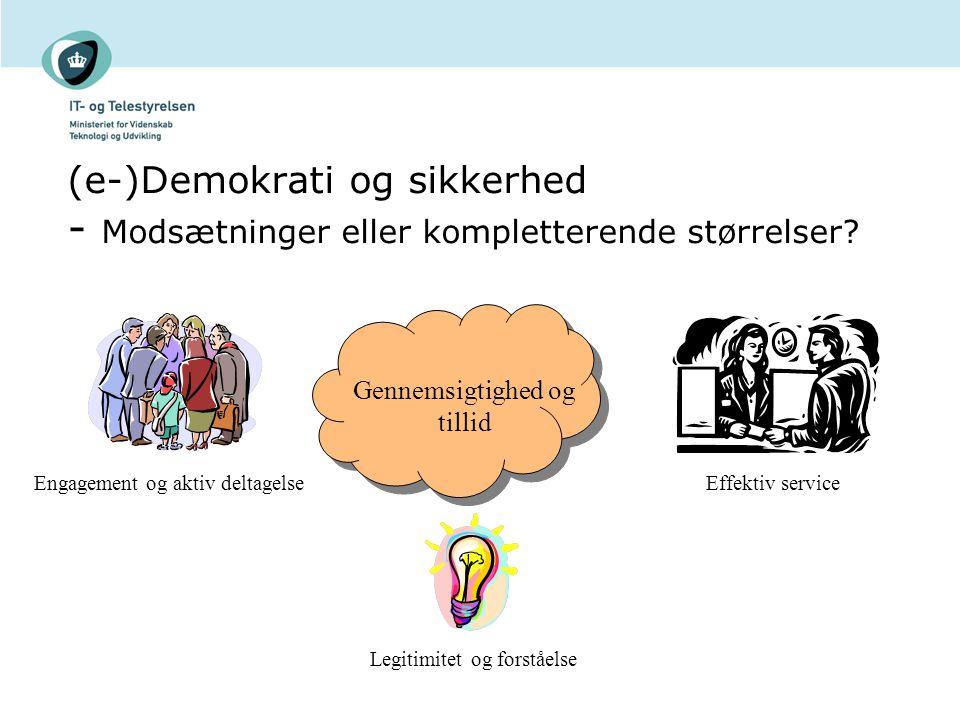 (e-)Demokrati og sikkerhed - Modsætninger eller kompletterende størrelser