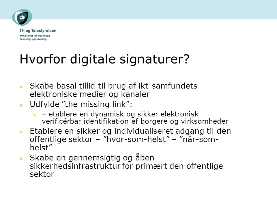 Hvorfor digitale signaturer