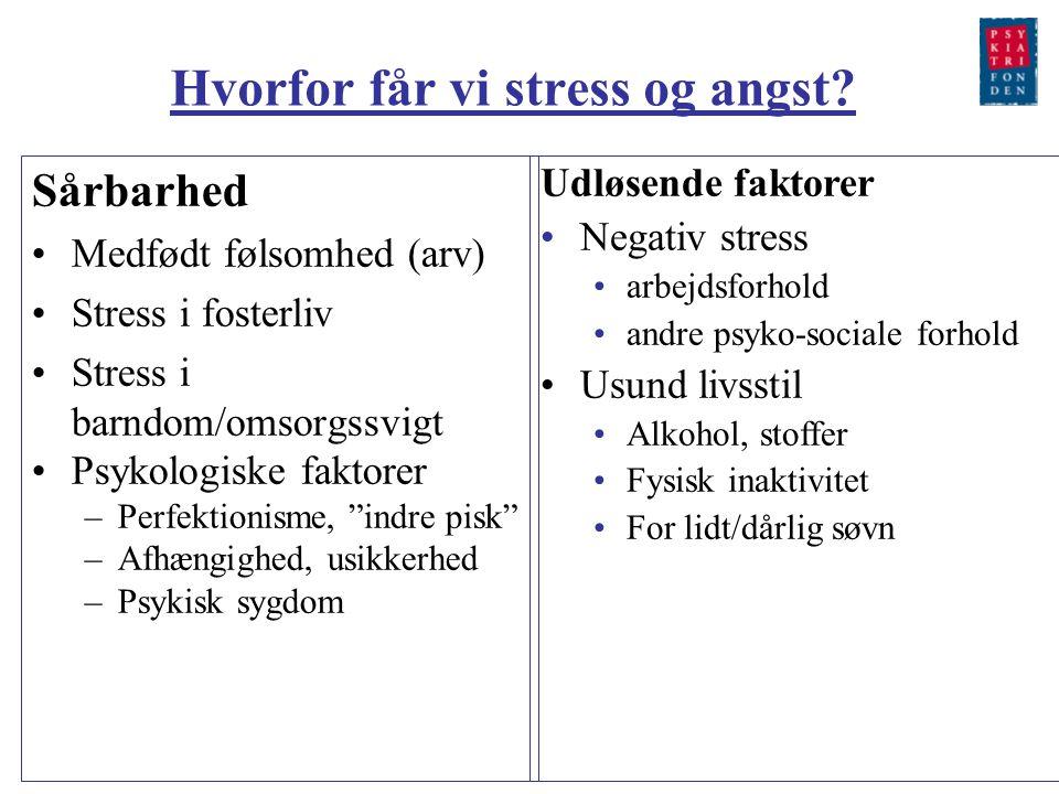 Hvorfor får vi stress og angst