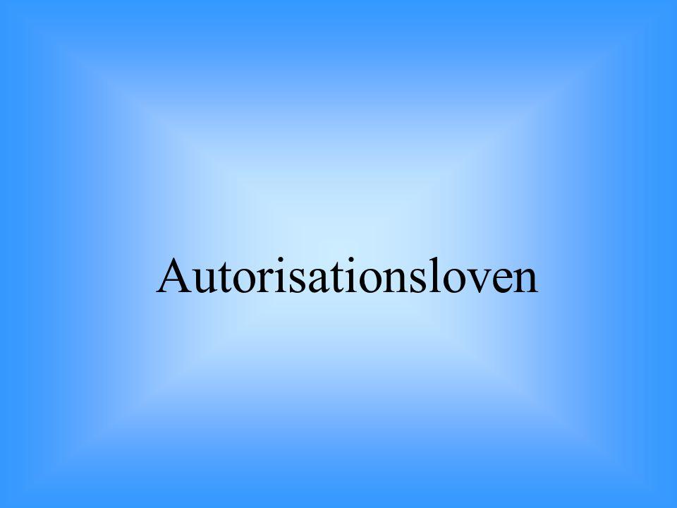 Autorisationsloven 24