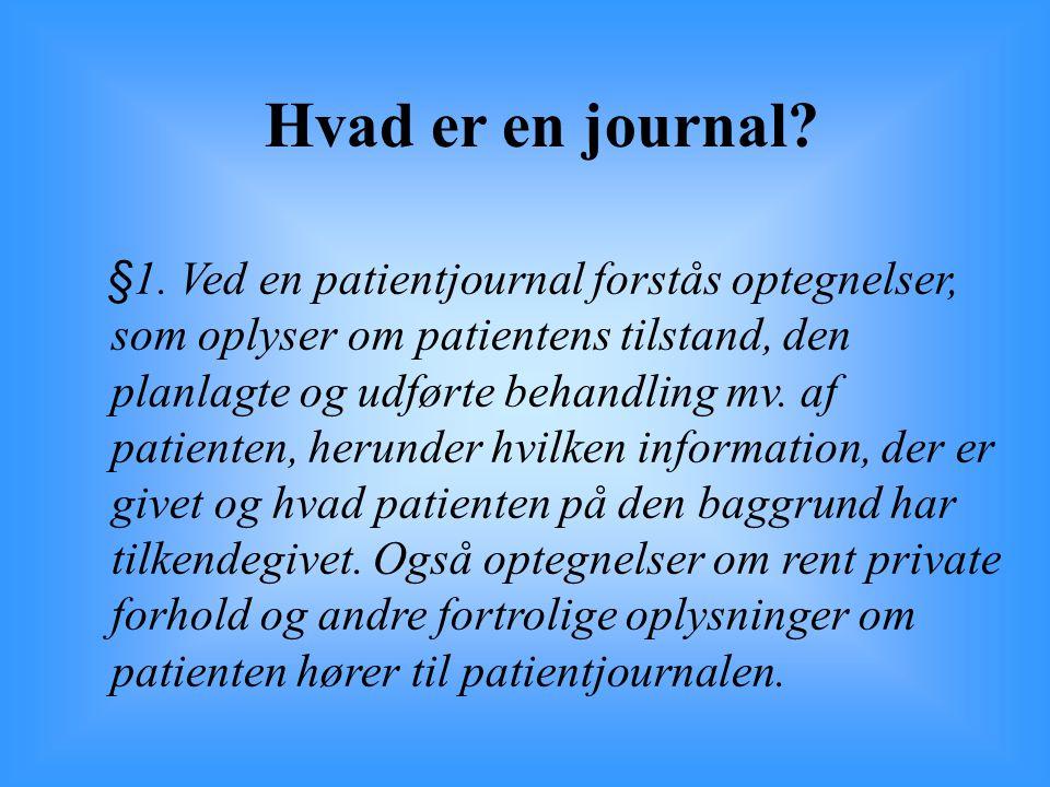 Hvad er en journal