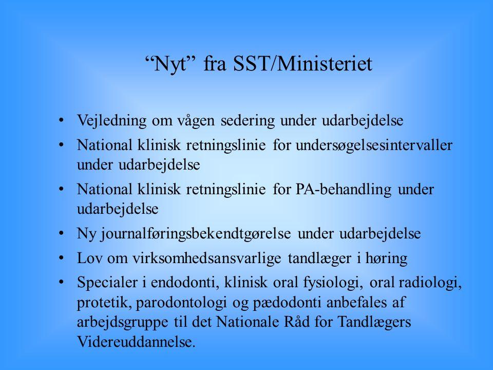 Nyt fra SST/Ministeriet