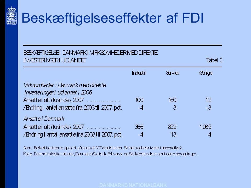 Beskæftigelseseffekter af FDI