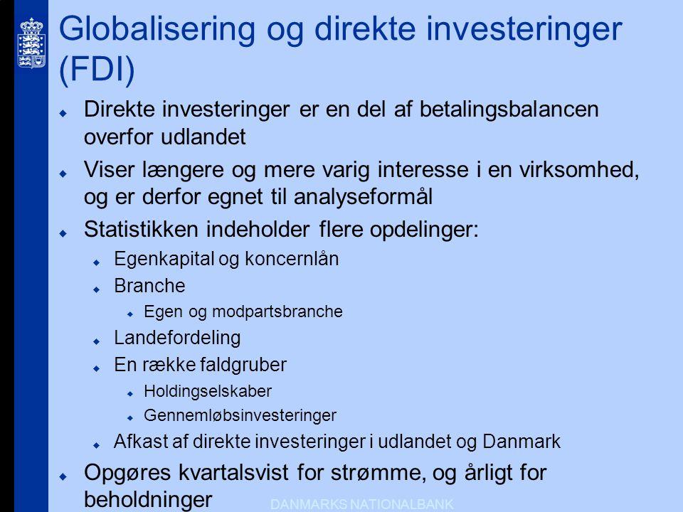 Globalisering og direkte investeringer (FDI)