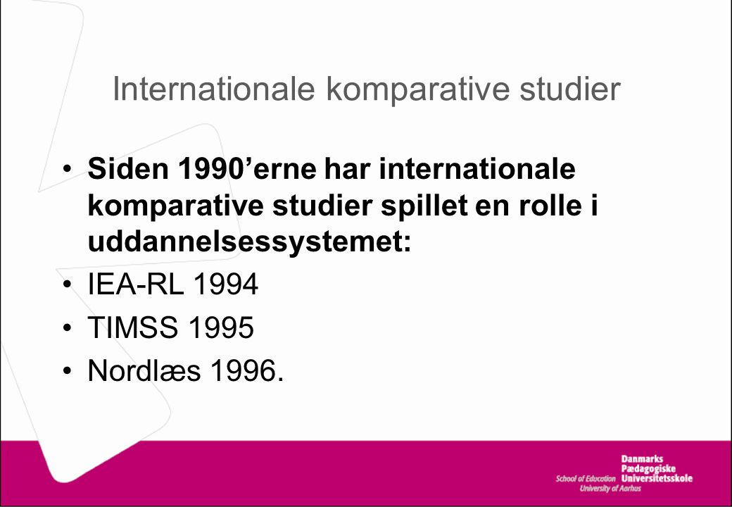 Internationale komparative studier