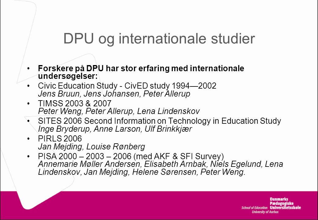 DPU og internationale studier