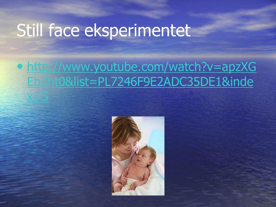 Still face eksperimentet