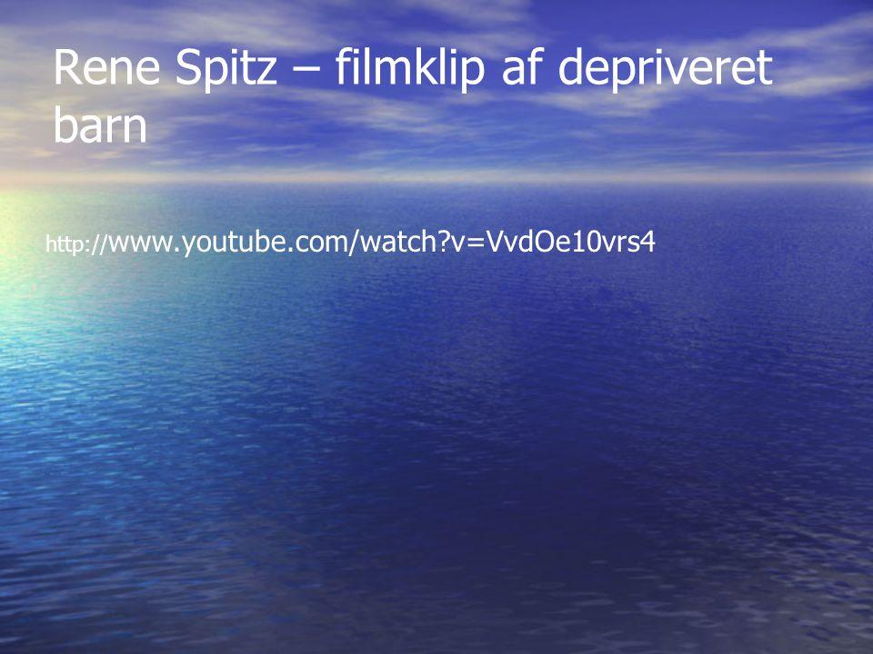 Rene Spitz – filmklip af depriveret barn