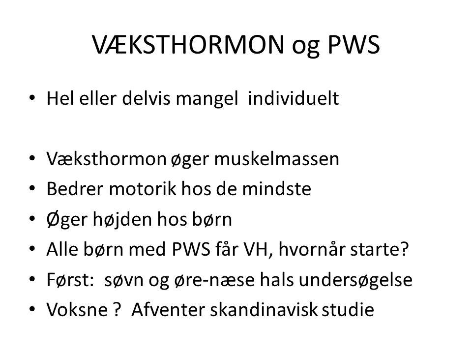VÆKSTHORMON og PWS Hel eller delvis mangel individuelt