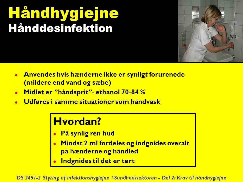Håndhygiejne Hånddesinfektion