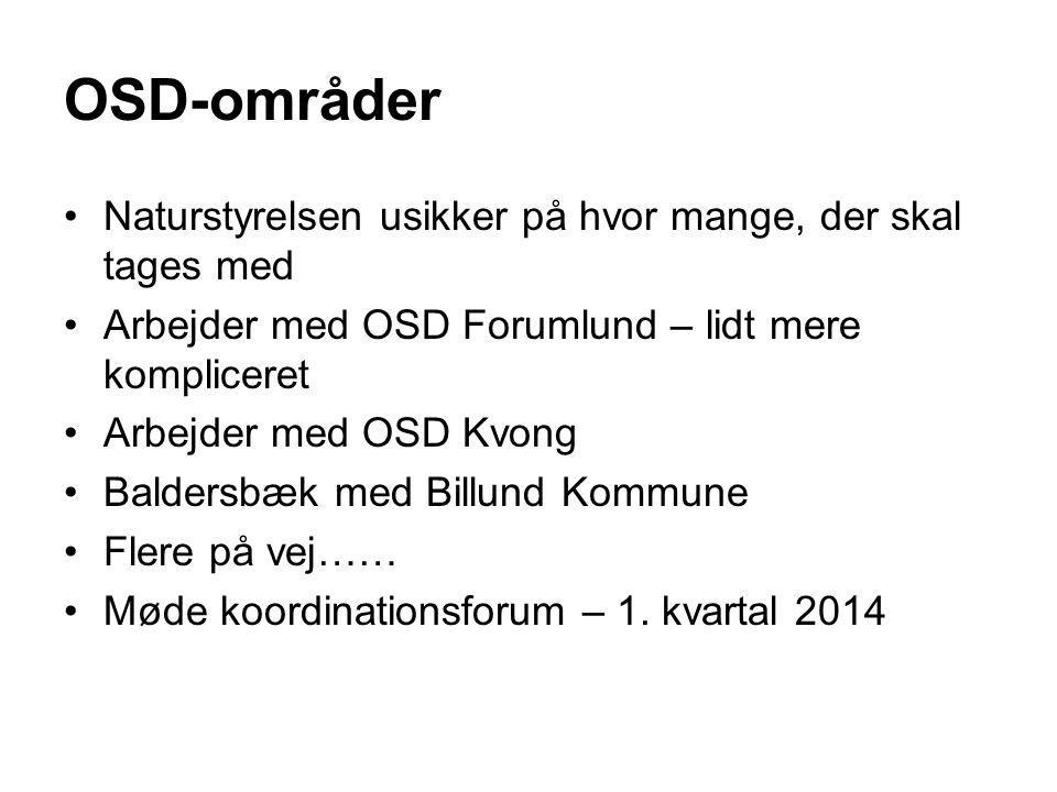 OSD-områder Naturstyrelsen usikker på hvor mange, der skal tages med