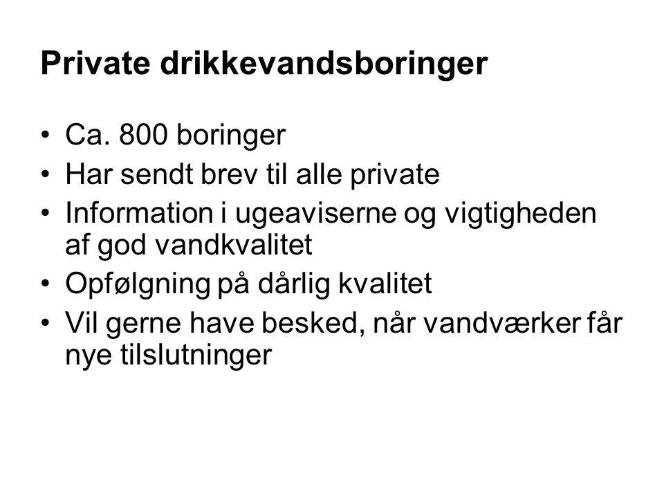 Private drikkevandsboringer
