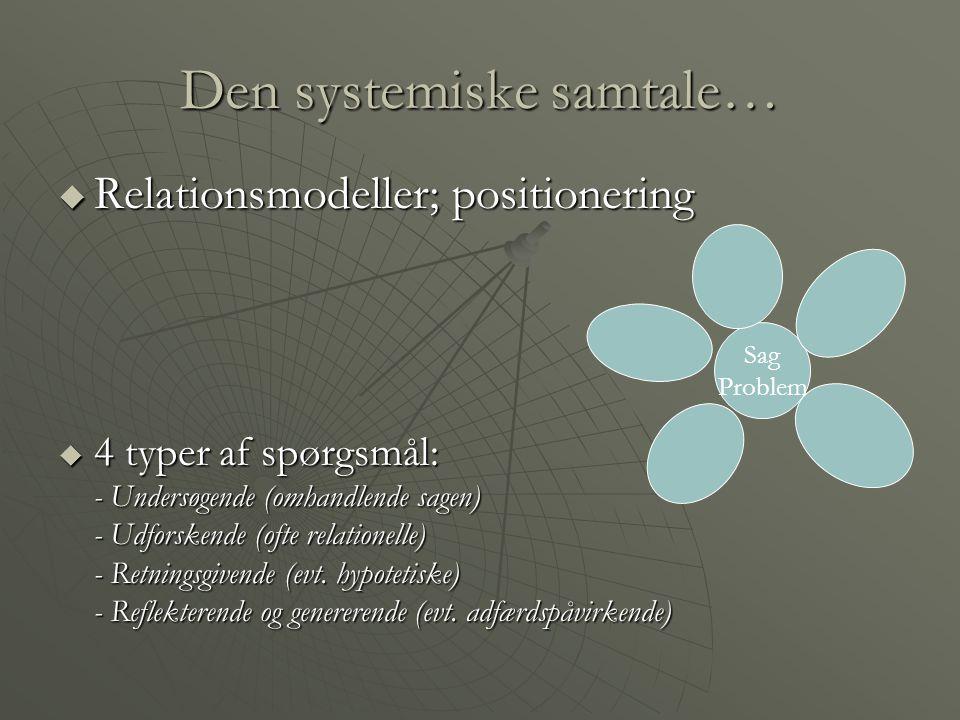 Den systemiske samtale…