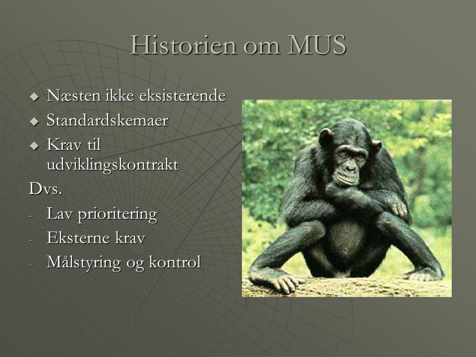 Historien om MUS Næsten ikke eksisterende Standardskemaer