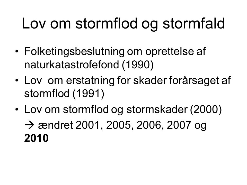 Lov om stormflod og stormfald