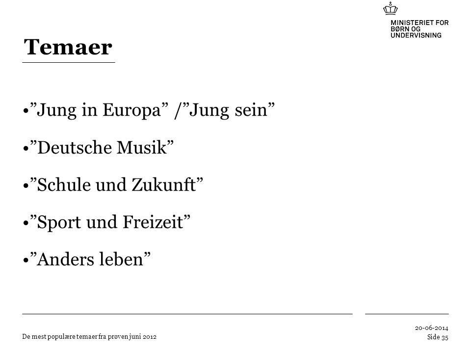 Temaer Jung in Europa / Jung sein Deutsche Musik