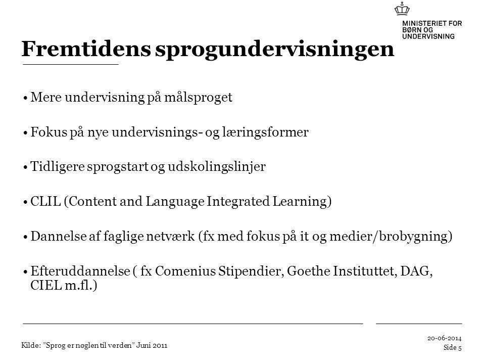 Fremtidens sprogundervisningen