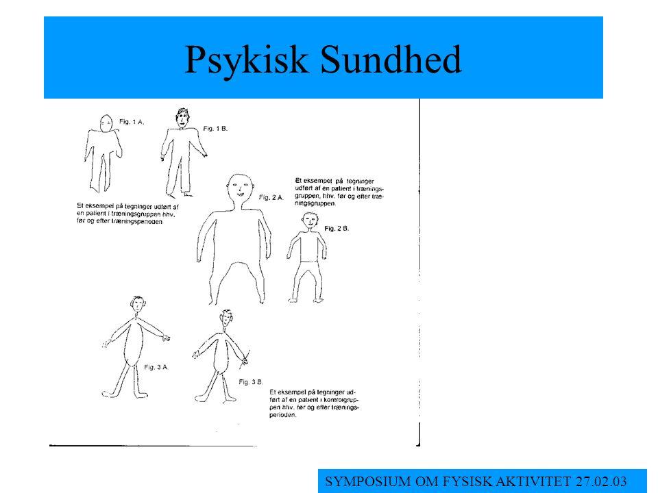 Psykisk Sundhed SYMPOSIUM OM FYSISK AKTIVITET 27.02.03