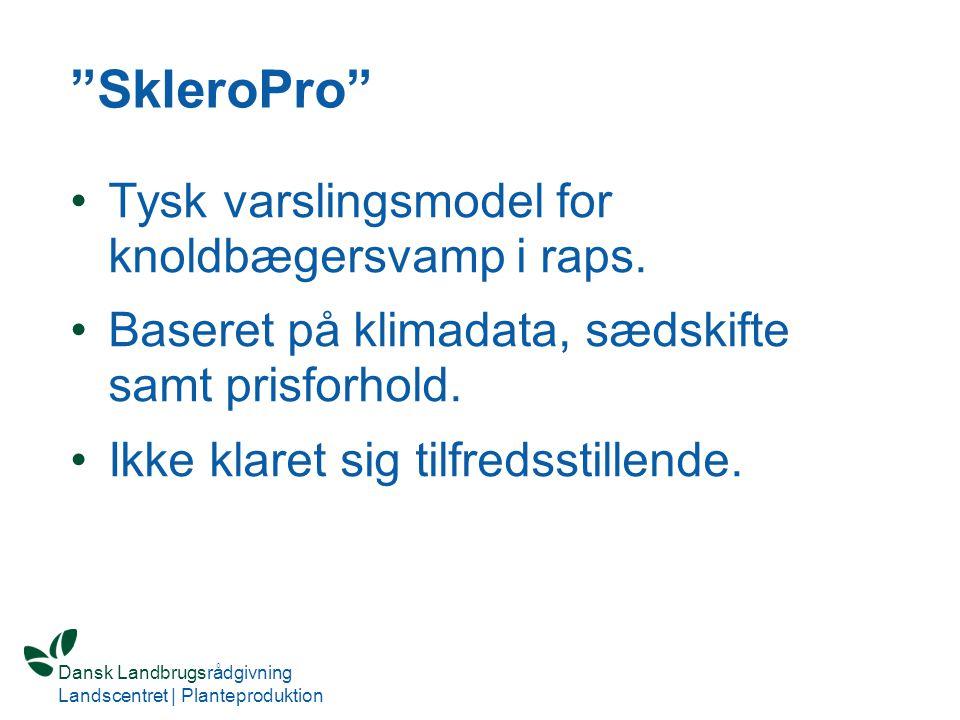 SkleroPro Tysk varslingsmodel for knoldbægersvamp i raps.