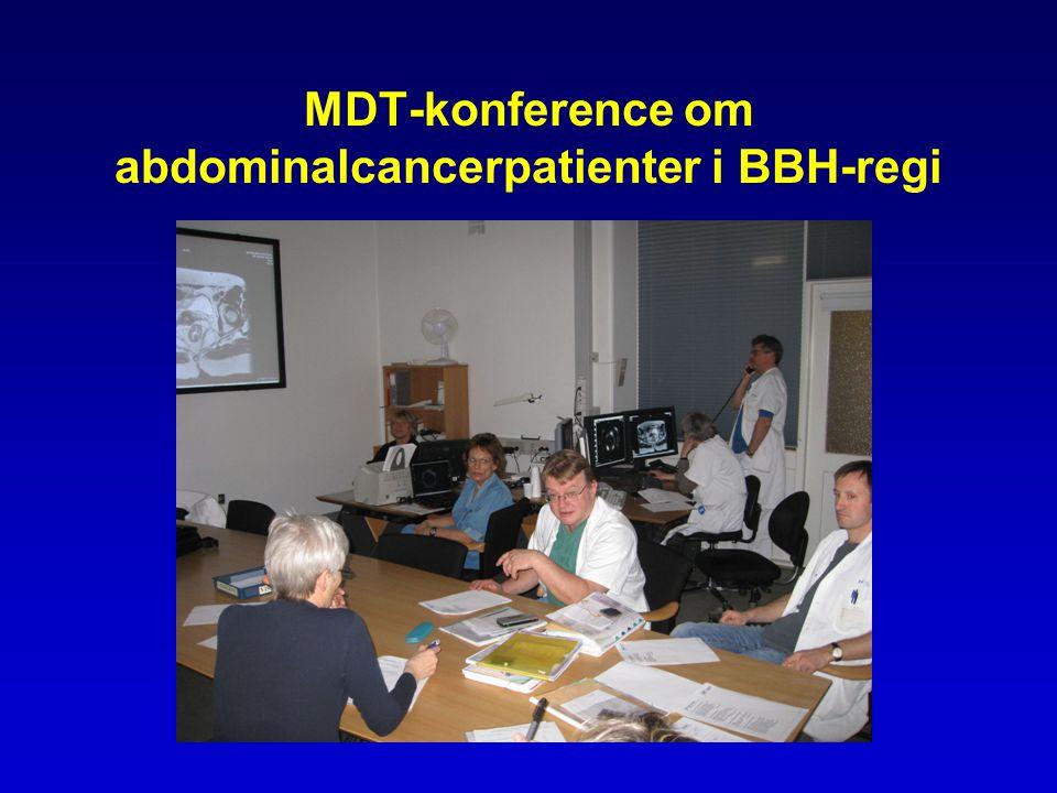 MDT-konference om abdominalcancerpatienter i BBH-regi