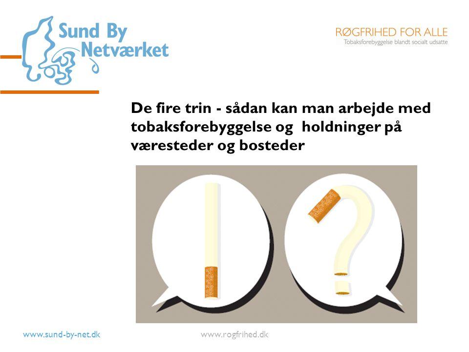 De fire trin - sådan kan man arbejde med tobaksforebyggelse og holdninger på væresteder og bosteder