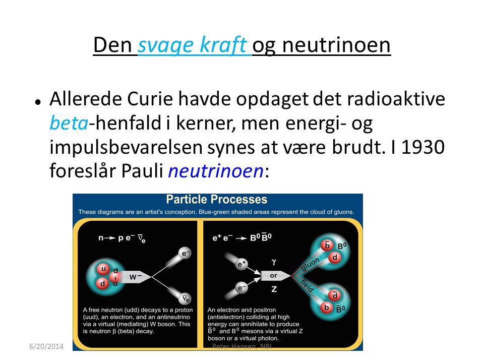 Den svage kraft og neutrinoen