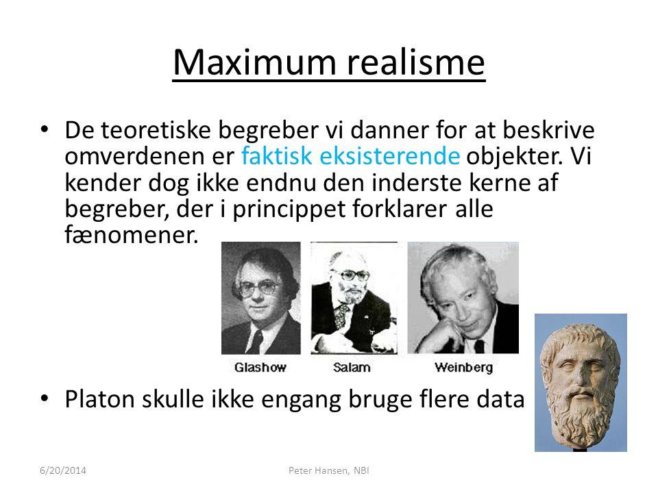 Maximum realisme
