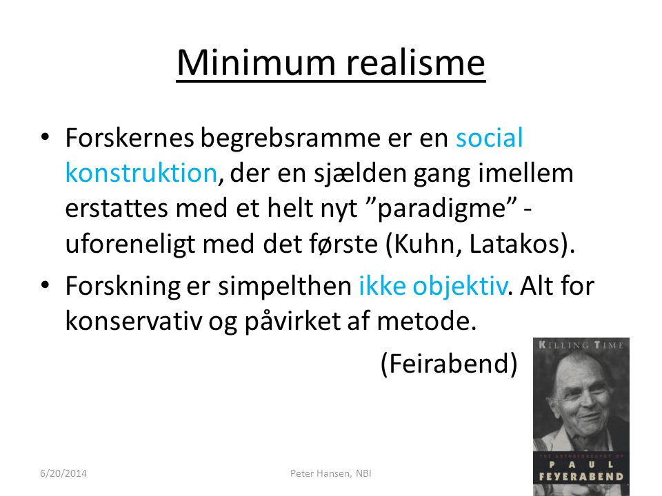 Minimum realisme