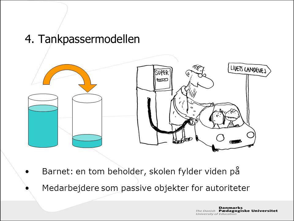4. Tankpassermodellen Barnet: en tom beholder, skolen fylder viden på