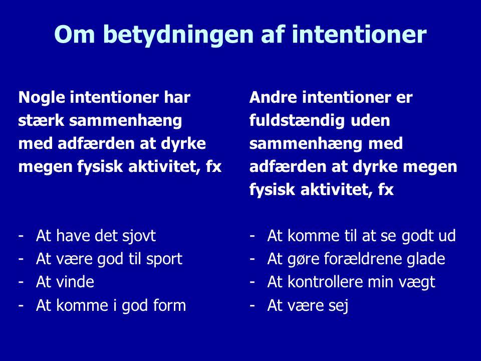 Om betydningen af intentioner