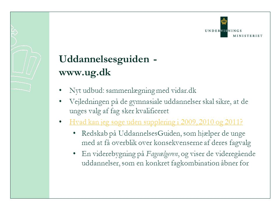 Uddannelsesguiden -www.ug.dk