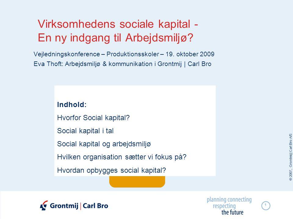 Virksomhedens sociale kapital - En ny indgang til Arbejdsmiljø