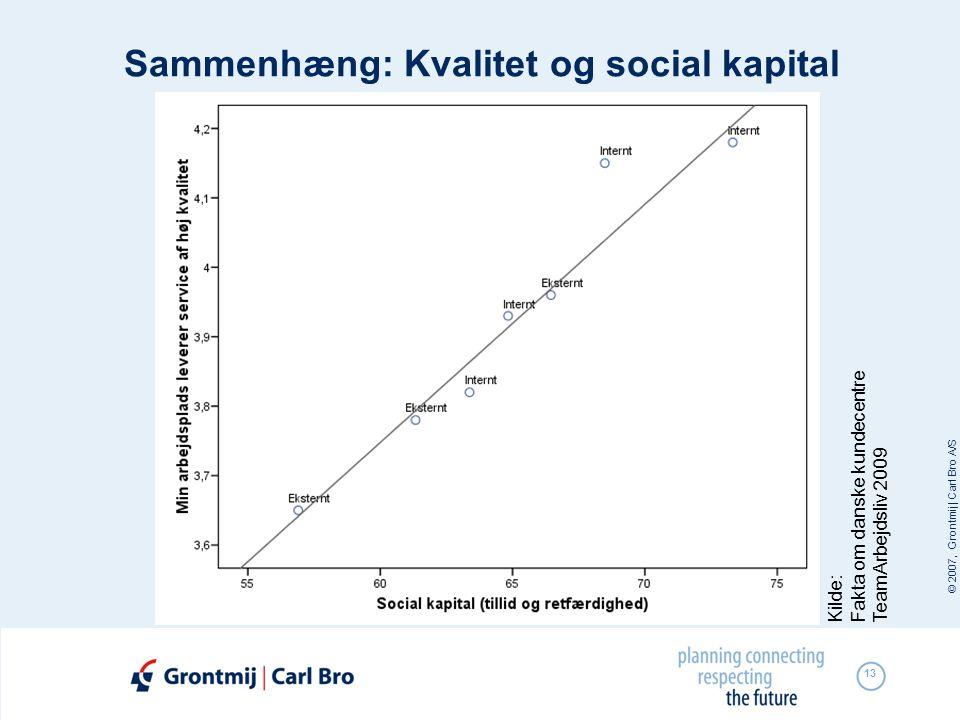 Sammenhæng: Kvalitet og social kapital