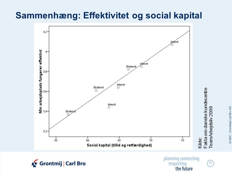 Sammenhæng: Effektivitet og social kapital
