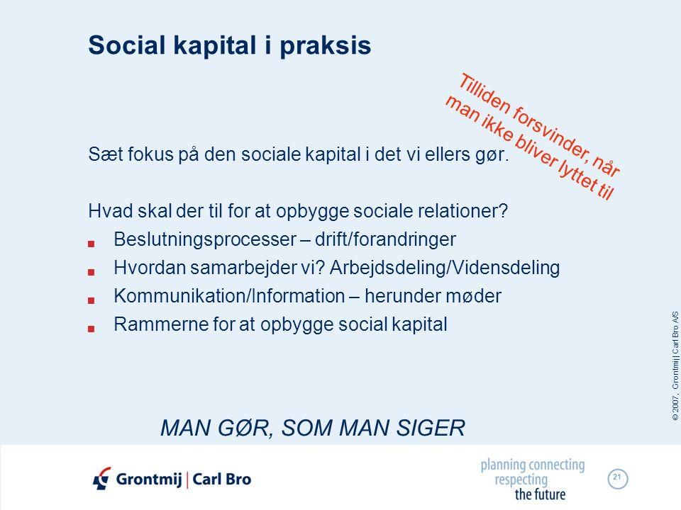 Social kapital i praksis
