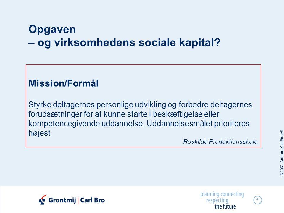 Opgaven – og virksomhedens sociale kapital