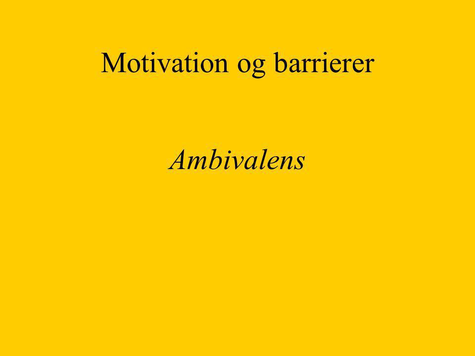 Motivation og barrierer
