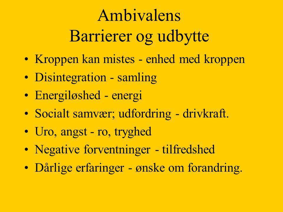 Ambivalens Barrierer og udbytte