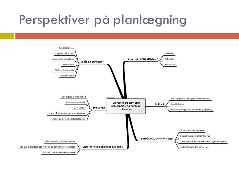 Perspektiver på planlægning