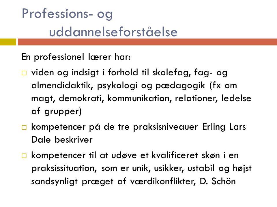 Professions- og uddannelseforståelse