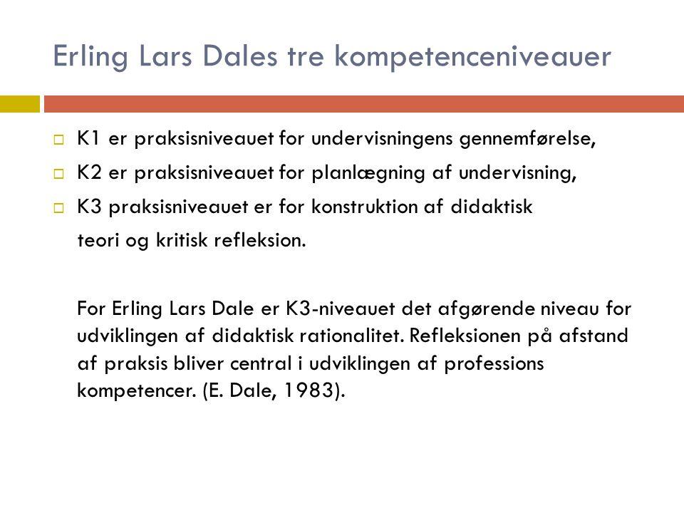 Erling Lars Dales tre kompetenceniveauer