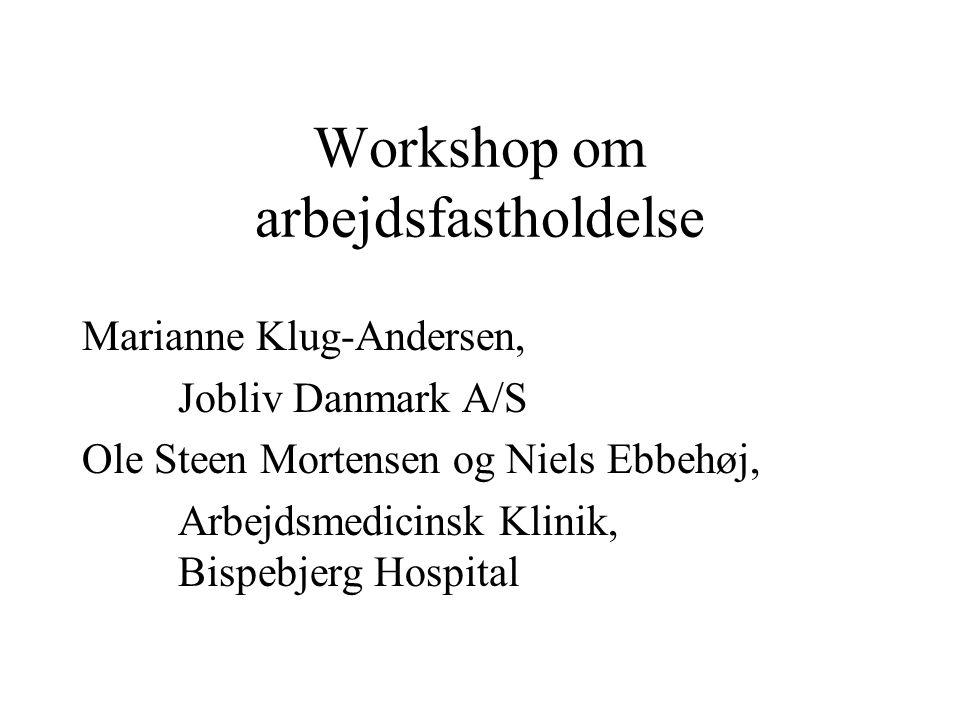 Workshop om arbejdsfastholdelse