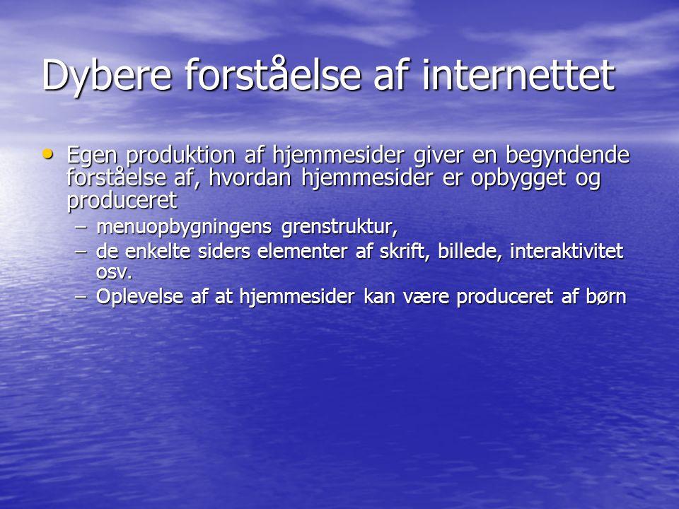 Dybere forståelse af internettet