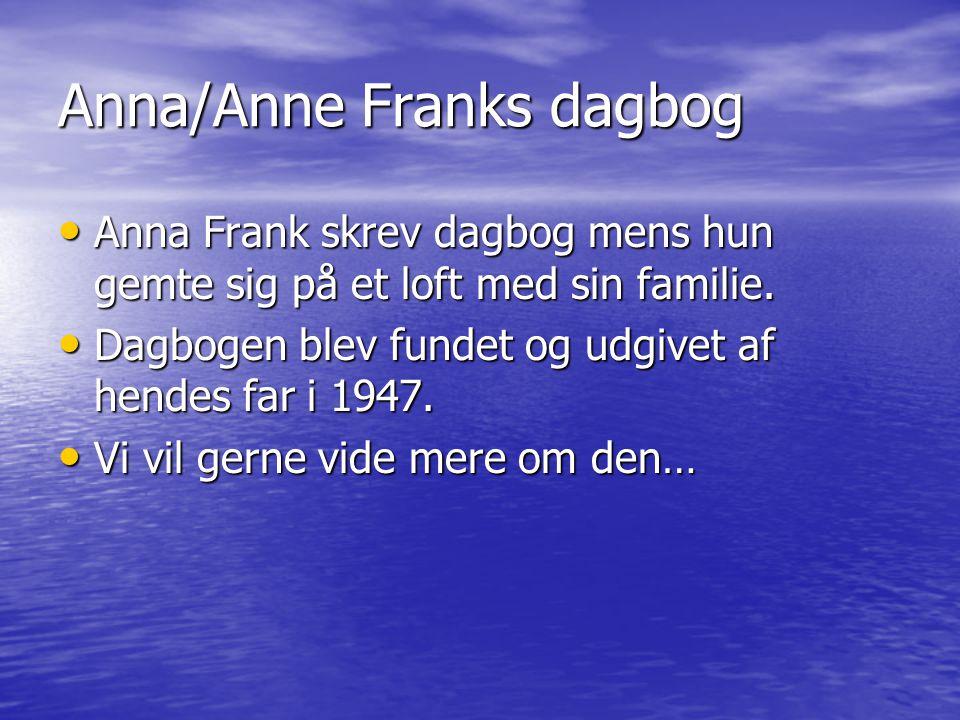 Anna/Anne Franks dagbog